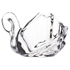 Swan Crystal Votive Holder