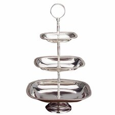 <strong>Godinger Silver Art Co</strong> Tia 3 Tier Serving Tray