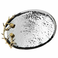 <strong>Godinger Silver Art Co</strong> Arboria Oval Tray