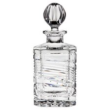 <strong>Godinger Silver Art Co</strong> Spirale Square Crystal Decanter