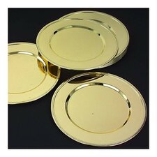 "<strong>Godinger Silver Art Co</strong> Halie 11.5"" Charger Plate in Brass (Set of 12)"