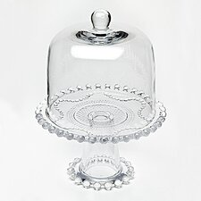 2 Piece Chesterfield Cake Stand and Dome Set