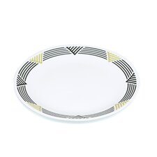 "Livingware Global Stripes 10.25"" Dinner Plate"