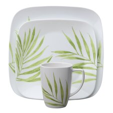 <strong>Corelle</strong> Square Bamboo Leaf 16 Piece Dinnerware Set