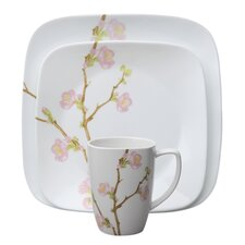<strong>Corelle</strong> Cherry Blossom Square 16 Piece Dinnerware Set