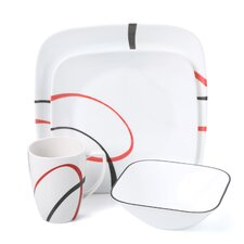 Square Fine Lines 16 Piece Dinnerware Set