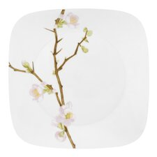 "Square 10.5"" Cherry Blossom Dinner Plate"