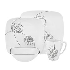 <strong>Corelle</strong> Scribble Lines 16 Piece Dinnerware Set