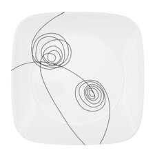 """Scribble Lines 9"""" Square Plate"""