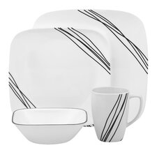 Simple Sketch 16 Piece Dinnerware Set