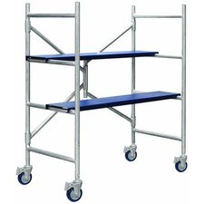 4' H x 1.79' W x 3.54' D Contractor Series Mini Rolling Scaffolding System