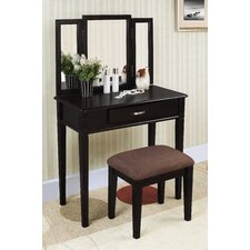 3-Piece Vanity Set in Black