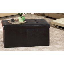 <strong>Williams Import Co.</strong> Leather Storage Ottoman