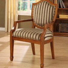 <strong>Williams Import Co.</strong> Occasional Stripe Fabric Arm Chair