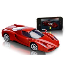<strong>Silver Lit</strong> Bluetooth Ferrari Enzo 1:16 Car