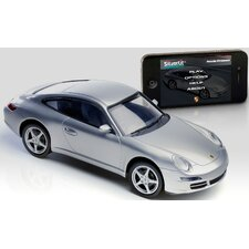 <strong>Silver Lit</strong> Bluetooth Porsche 911 1:16 Car