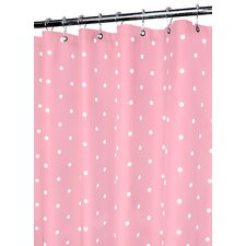 Prints Polyester Classic Polka Dot Shower Curtain