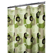 Prints Polyester Geo Squares Shower Curtain