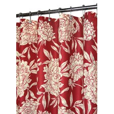 Prints Polyester Peony Shower Curtain