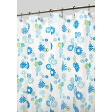 Prints Polyester Starburst Floral Shower Curtain