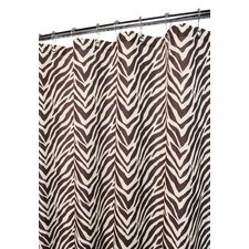 Prints Polyester Zebra Shower Curtain