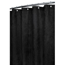Solid Polyester Rich Suede Shower Curtain