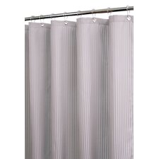 <strong>Watershed</strong> Solid Polyester Satin Stripe Shower Curtain