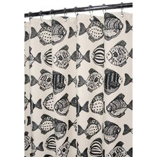 Fish School Polyester Shower Curtain