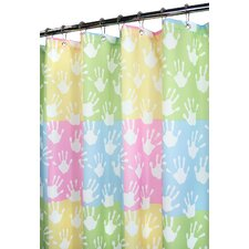 Watershed Prints Polyester World Hands Shower Curtain