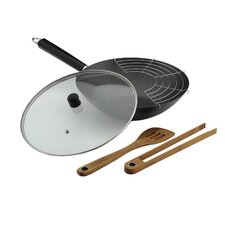 30.5cm Non Stick Professional Wok Set