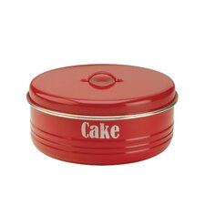 Vintage Kitchen Cake Tin in Red
