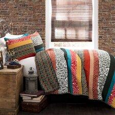 Boho Stripe 3 Piece Quilt Set