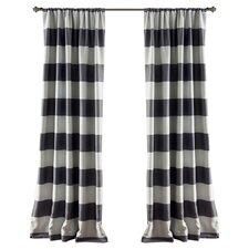 Stripe Blackout Window Curtain Panel (Set of 2)