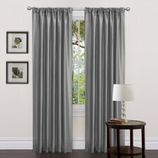 Delila Rod Pocket Curtain Panel Pair with Tiebacks