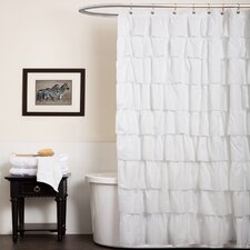 Ruffle Shower Curtain in White