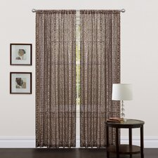 Leopard Rod Pocket Curtain Single Panel