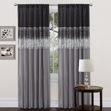 Night Sky Rod Pocket Curtain Single Panel
