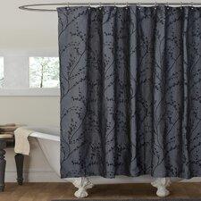 Polyester Flower Texture Shower Curtain