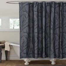 Polyester Flower Texture Shower Curtain