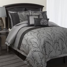 <strong>Special Edition by Lush Decor</strong> Flower Texture 8 Piece Comforter Set