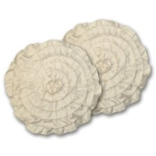 Lucia Polyester Round Decorative Pillow (Set of 2)