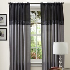 Geometrica Rod Pocket Curtain Panel (Set of 2)