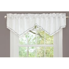 Romana Rod Pocket Scalloped Curtain Valance