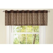 "Leopard Rod Pocket Tailored 84"" Curtain Valance"