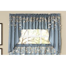 "Flower Rod Pocket Swag Kitchen 39"" Curtain Valance (Set of 2)"