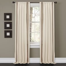 Charming Sand Rod Pocket Window Curtain Panel Pair