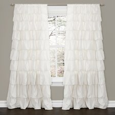 Ruffle Rod Pocket Curtain Single Panel