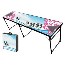 Hibiscus Folding and Portable Beer Pong Table