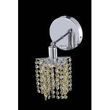 <strong>Elegant Lighting</strong> Mini 1 Light Pentagon / Star Wall Sconce with Round Canopy