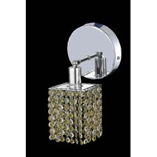 Mini 1 Light Square Wall Sconce with Round Canopy